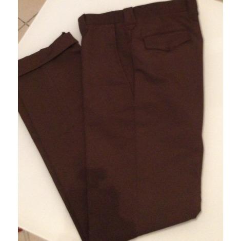Pantalon droit MARQUE INCONNUE Marron