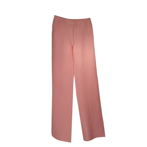 Pantalon large MAX MARA Rose, fuschia, vieux rose