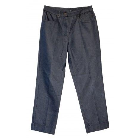 Pantalon droit JOHN GALLIANO Bleu, bleu marine, bleu turquoise