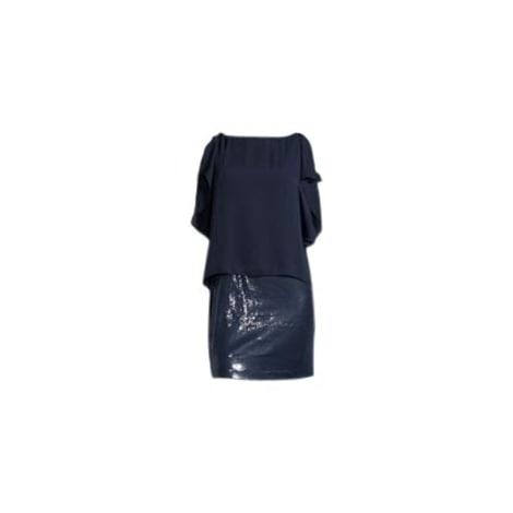 Robe courte HALSTON HERITAGE Bleu, bleu marine, bleu turquoise