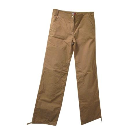 Pantalon large TOMMY HILFIGER Beige, camel