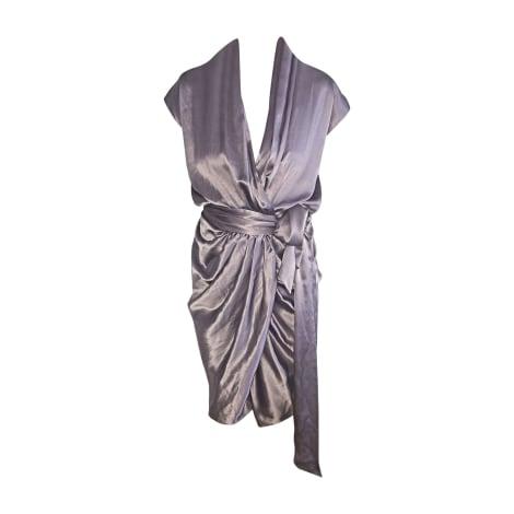 Robe courte LANVIN Violet, mauve, lavande