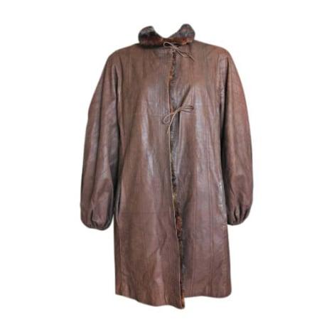 Manteau en fourrure FENDI Marron