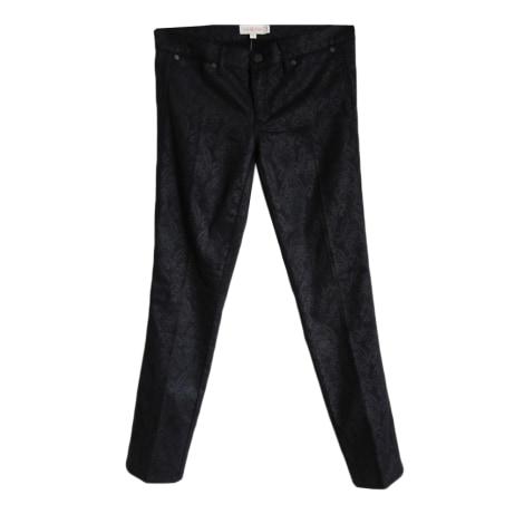 Jeans droit TORY BURCH Black Denim Floral Lattice