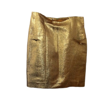 Jupe courte LES PRAIRIES DE PARIS Doré, bronze, cuivre