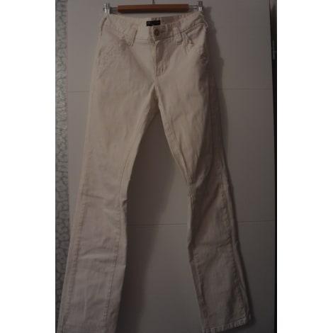 Pantalon slim, cigarette ONE STEP Blanc, blanc cassé, écru