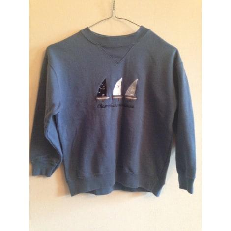 Sweat CYRILLUS Bleu, bleu marine, bleu turquoise