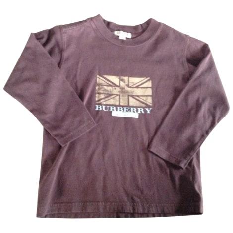 Tee-shirt BURBERRY Marron