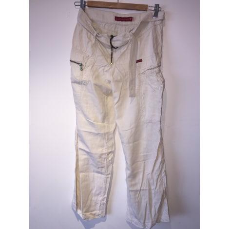 Pantalon évasé GUESS Blanc, blanc cassé, écru