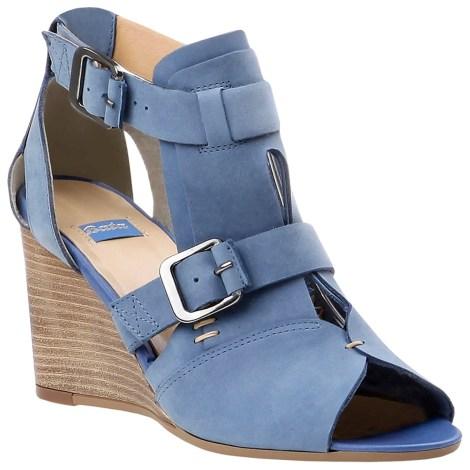 Sandales compensées BATA Bleu, bleu marine, bleu turquoise