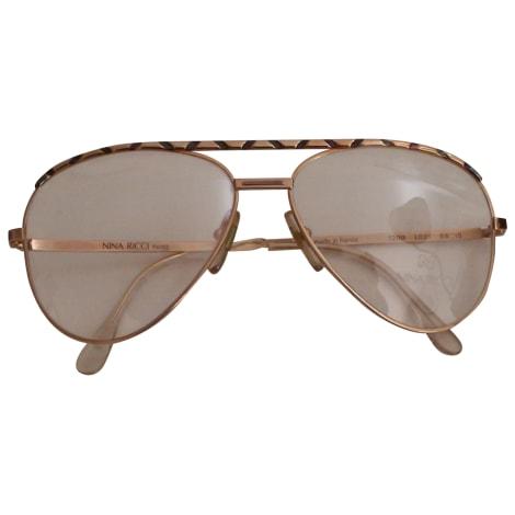 Eyeglass Frames NINA RICCI Golden, bronze, copper