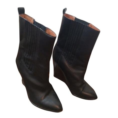 Bottines & low boots à compensés IRO Noir