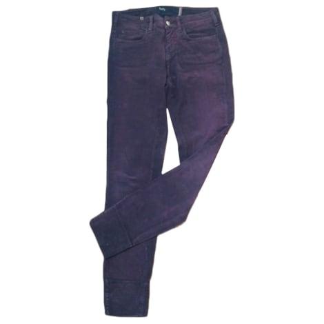 Jeans slim NOTIFY Rouge, bordeaux