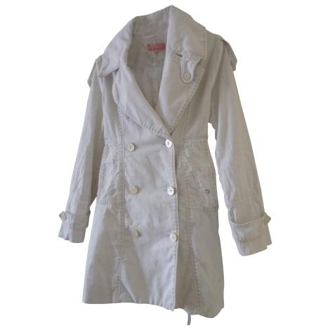 Manteau ESCADA Blanc, blanc cassé, écru