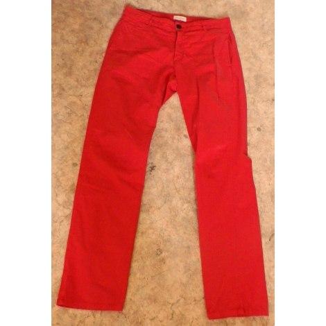 Pantalon slim AMERICAN VINTAGE Rouge, bordeaux