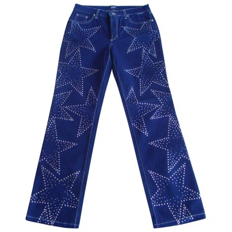 Jeans droit GIANFRANCO FERRE Bleu, bleu marine, bleu turquoise