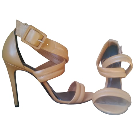 Sandales à talons BARBARA BUI Beige, camel
