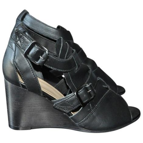 Sandales compensées BATA Noir