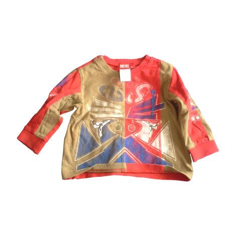 Top, tee shirt DIESEL Rouge, bordeaux