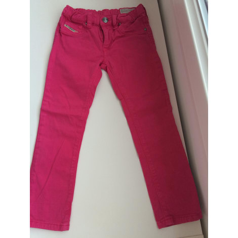 Jeans droit DIESEL Rose, fuschia, vieux rose
