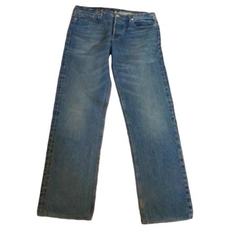 Jeans droit APC Bleu, bleu marine, bleu turquoise
