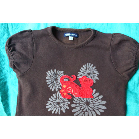 Top, Tee-shirt KID'S GRAFFITI Marron