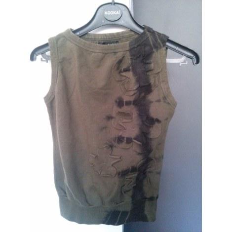 Top, tee-shirt LES PETITES... Kaki