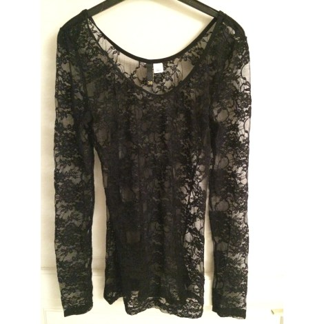 Top, tee-shirt H&M Noir