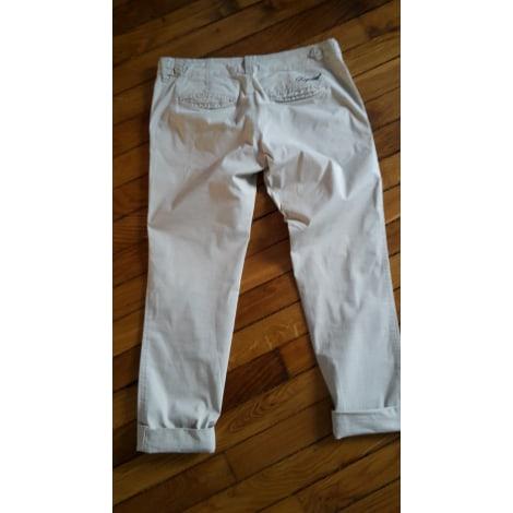 Pantalon carotte KAPORAL Blanc, blanc cassé, écru