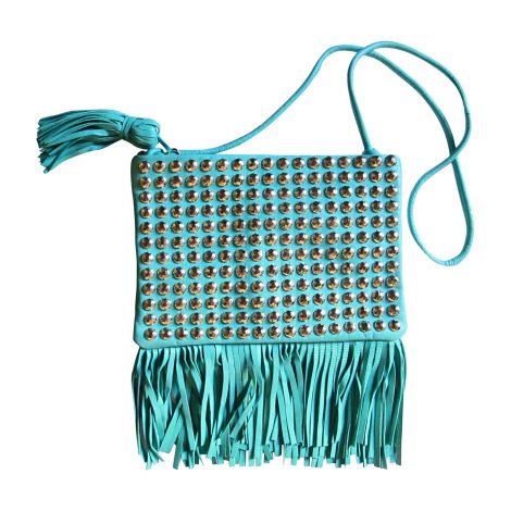 Sac en bandoulière en cuir SONIA RYKIEL Bleu, bleu marine, bleu turquoise