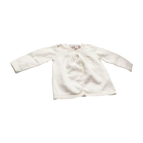 Gilet, cardigan BONPOINT Blanc, blanc cassé, écru