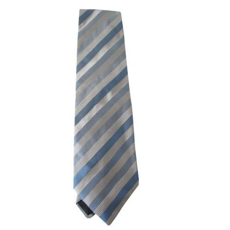 Cravate LANVIN Bleu et gris