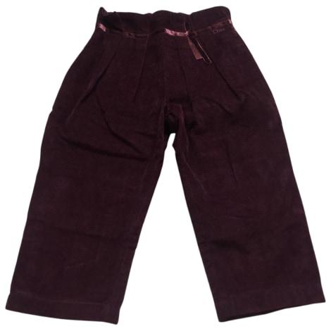 Pantalon BABY DIOR Prune