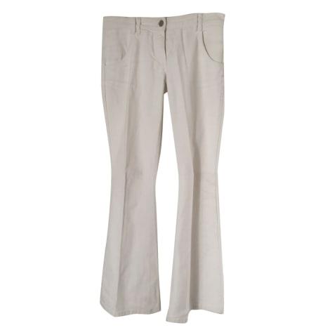 Jeans évasé, boot-cut CHLOÉ Blanc, blanc cassé, écru