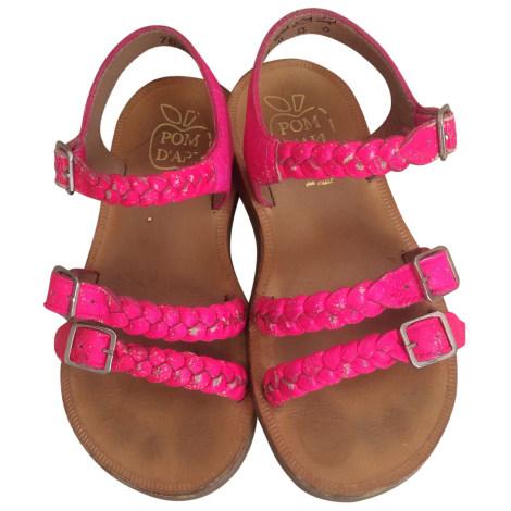 Chaussures à boucle POM D'API Rose, fuschia, vieux rose