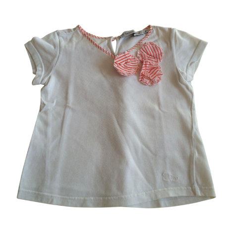 Top, Tee-shirt DIOR Blanc, blanc cassé, écru