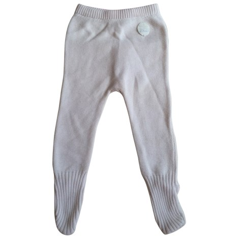 Pants BABY DIOR White, off-white, ecru