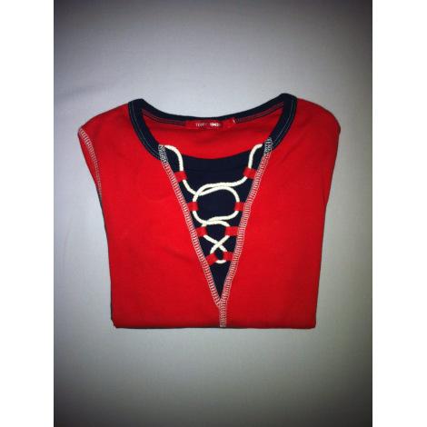 Top, tee-shirt TEDDY SMITH Rouge, bordeaux
