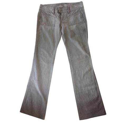 Jeans droit DIESEL Gris, anthracite