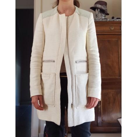 Manteau MAJE Blanc, blanc cassé, écru