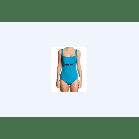 Maillot de bain une-pièce MAISON LEJABY Bleu, bleu marine, bleu turquoise