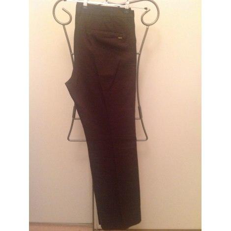 Pantalon droit MANGO Marron