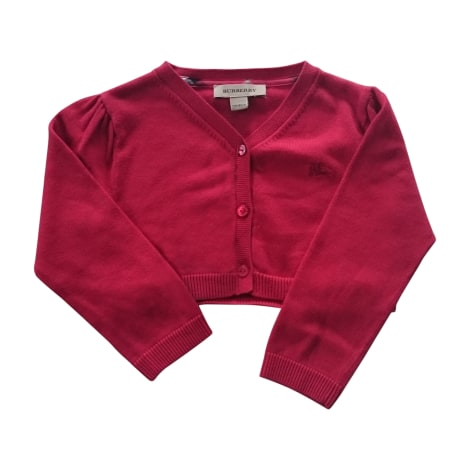 Gilet, cardigan BURBERRY Rouge, bordeaux