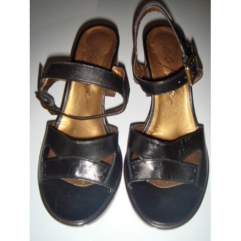 Sandales à talons ESPACE Noir