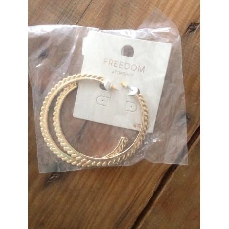 Boucles d'oreille TOPSHOP Doré, bronze, cuivre