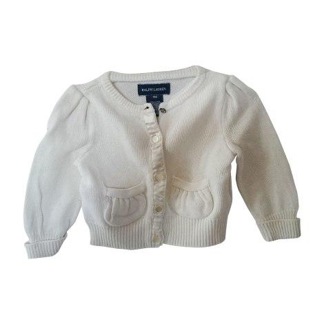 Vest, Cardigan RALPH LAUREN White, off-white, ecru