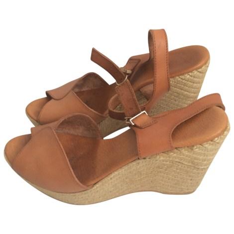 Wedge Sandals MINELLI Beige, camel