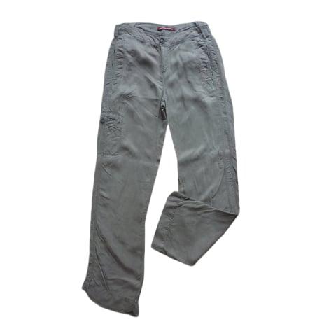 Pantalon droit COMPTOIR DES COTONNIERS Kaki