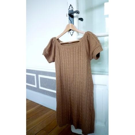 Robe pull ZARA Beige, camel