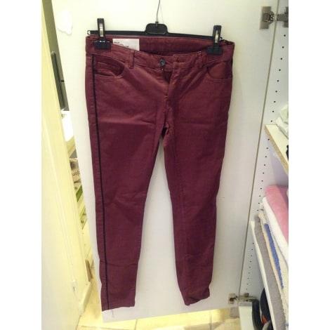 Jeans slim LEON & HARPER Rouge, bordeaux